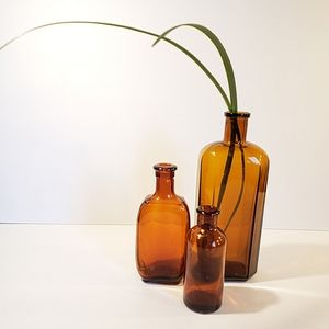 Vintage/Amber Apothecary Bud Vases